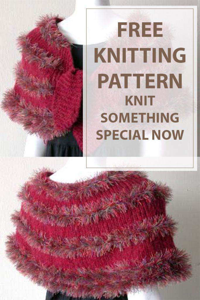 Tingle Knit Shrug Free Knitting Pattern