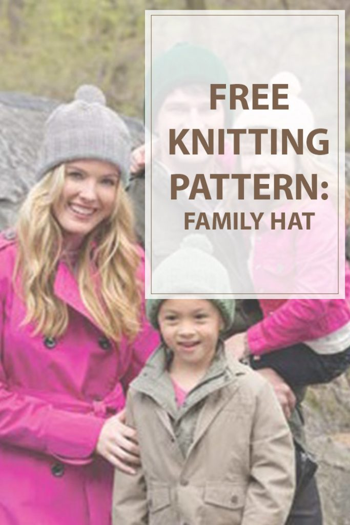 Knit Family Hats Pattern