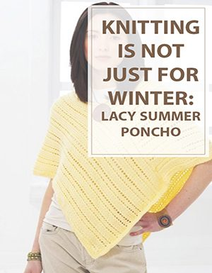 Knit Lacy Summer Poncho