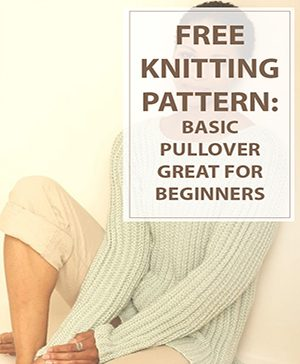 Knitting Pattern Basic Pullover