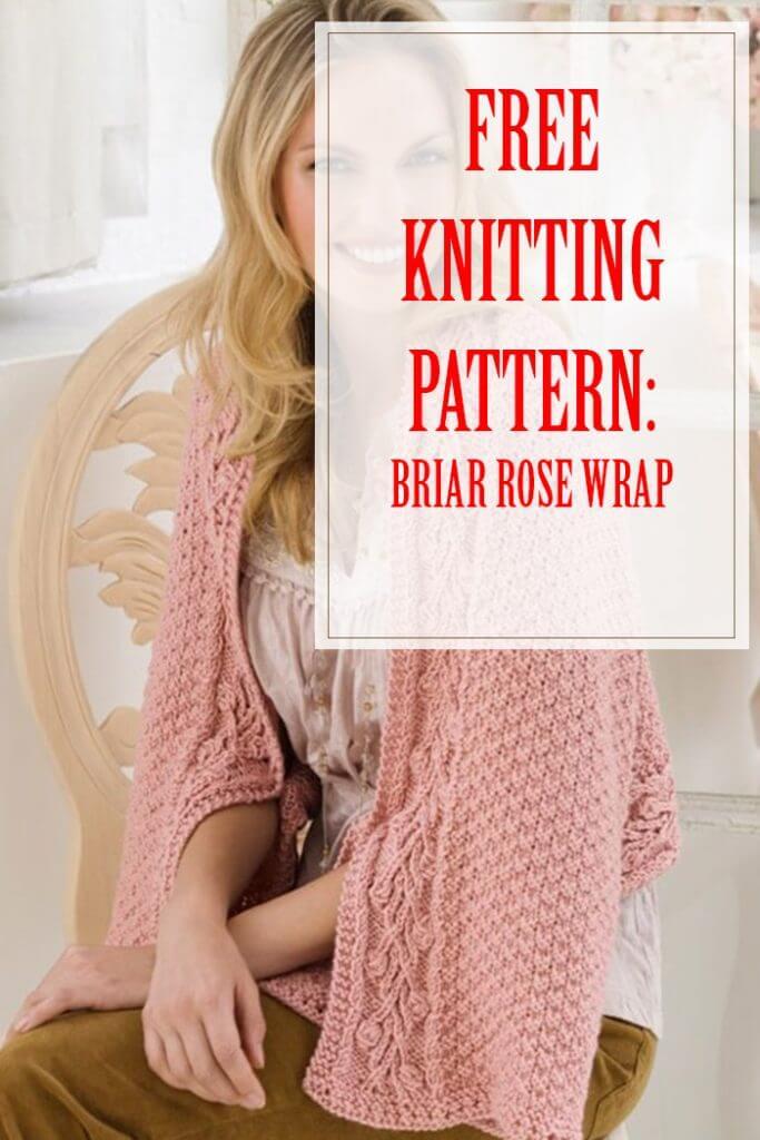 Briar Rose Wrap Free Knitting Pattern