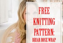 Briar Rose Wrap Free Knitting Pattern THUMP