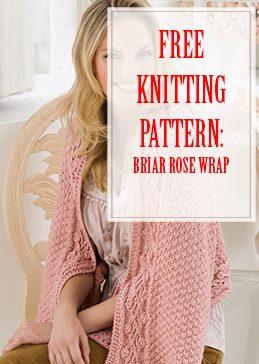 Briar Rose Wrap Free Knitting Pattern THUMP