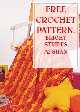 Bright Stripes Afghan Free Crochet Pattern THUMP