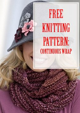 Continuous Wrap Free Knitting Pattern thump