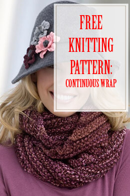 Continuous Wrap Free Knitting Pattern