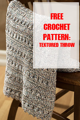 Crochet Textured Throw Free Crochet Pattern THUMP
