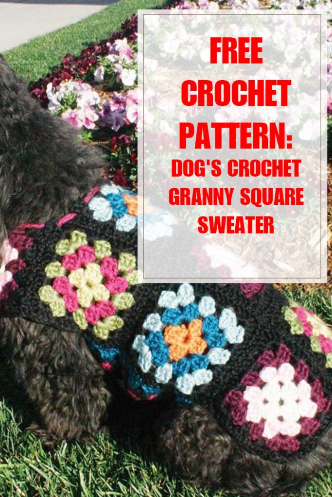 Dog's Crochet Granny Square Sweater Pattern