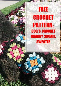 Dog's Crochet Granny Square Sweater Pattern thump