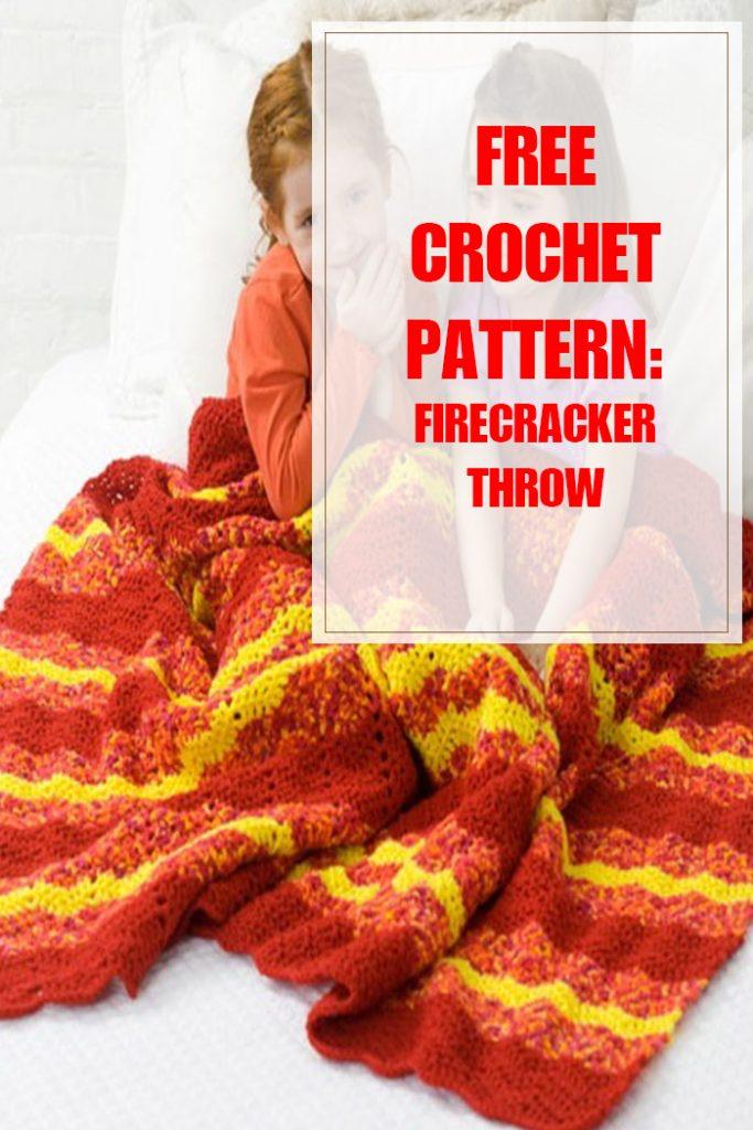 Firecracker Throw Free Crochet Pattern