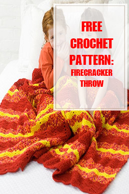 Firecracker Throw Free Crochet Pattern THUMP