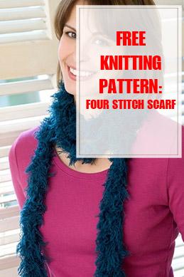 Four Stitch Scarf Knitting Pattern THUMP