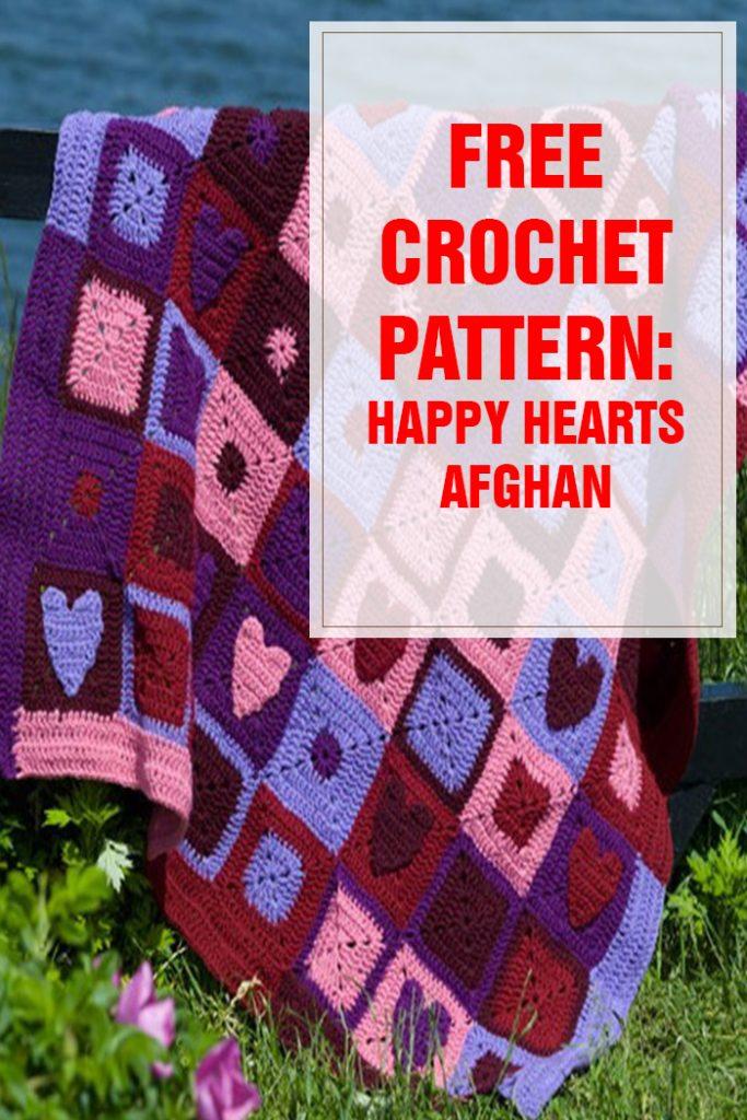 Free Crochet Pattern Happy Hearts Afghan
