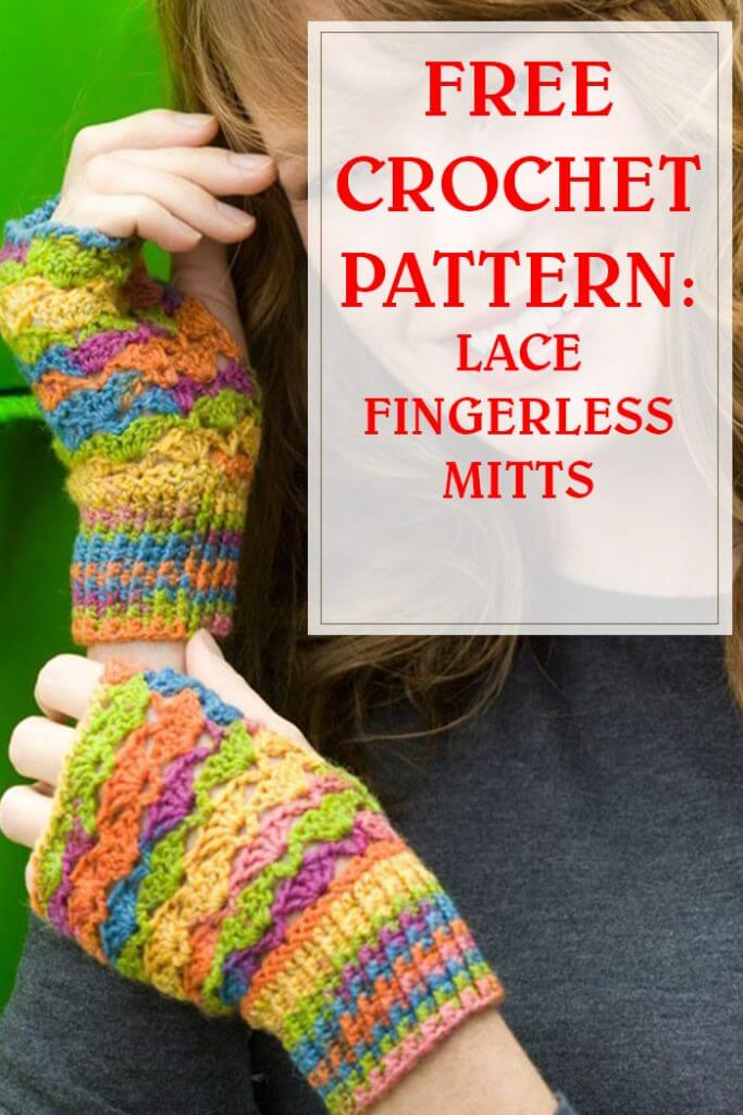 Free Crochet Pattern Lace Fingerless Mitts