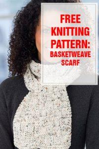 Free Knitting Pattern Basketweave Scarf THUMP