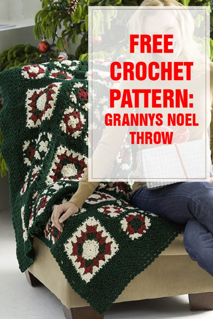 Grannys Noel Throw Free Crochet Pattern