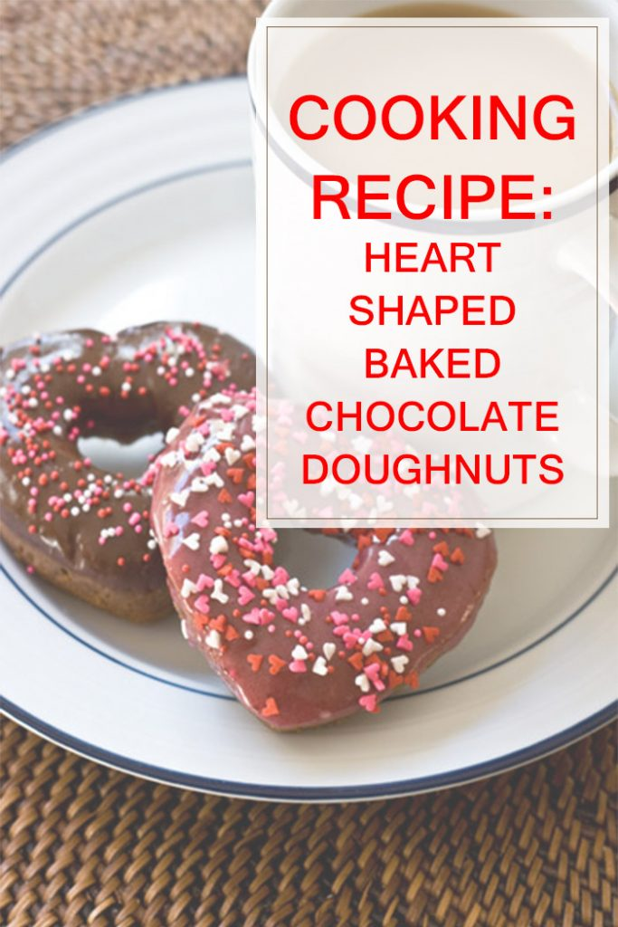 Heart Shaped Baked Chocolate Doughnuts