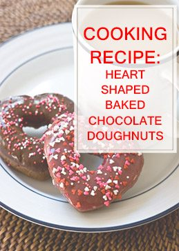 Heart Shaped Baked Chocolate Doughnuts THUMP