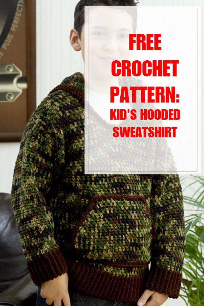 Kid's Hooded Sweatshirt Free Crochet Pattern