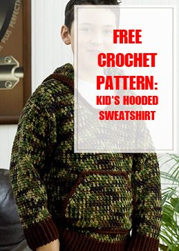 Kid's Hooded Sweatshirt Free Crochet Pattern THUMP