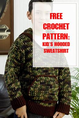 Kid's Hooded Sweatshirt Free Crochet Pattern THUMP