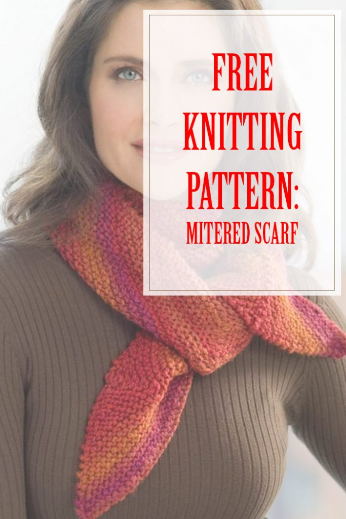 Mitered Scarf Free Knitting Pattern
