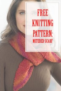 Mitered Scarf Free Knitting Pattern THUMP