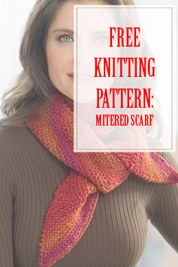 Mitered Scarf Free Knitting Pattern THUMP