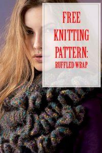 Ruffled Wrap Free Knitting Pattern THUMP