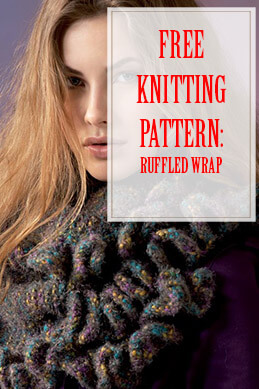 Ruffled Wrap Free Knitting Pattern THUMP
