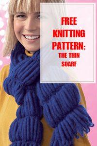 Thin Scarf Free Knitting Pattern THUMP