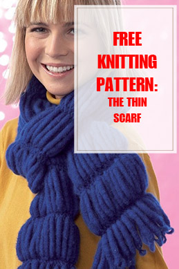 Thin Scarf Free Knitting Pattern THUMP