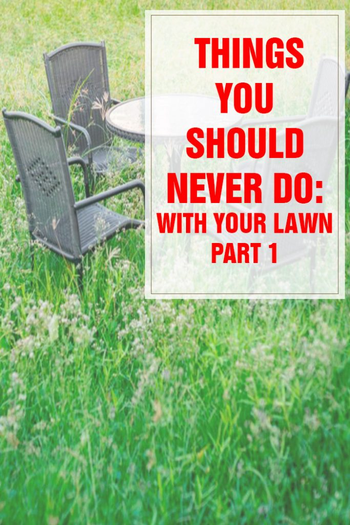 Things You Should Never Do With Your Lawn Part 1