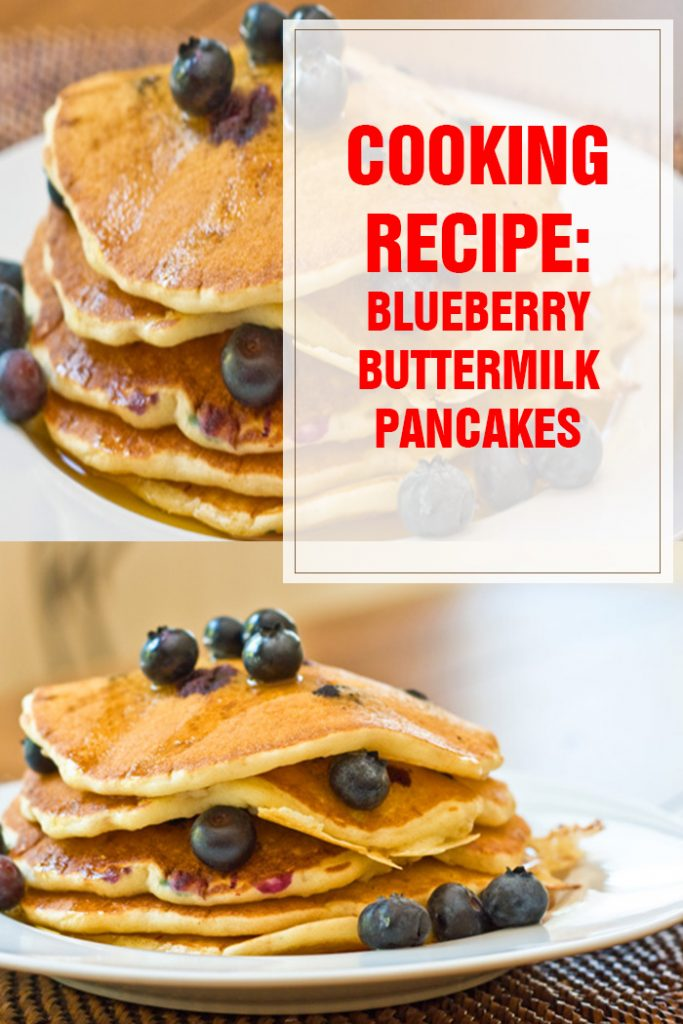 cooking recipe blueberry buttermilk pancakes