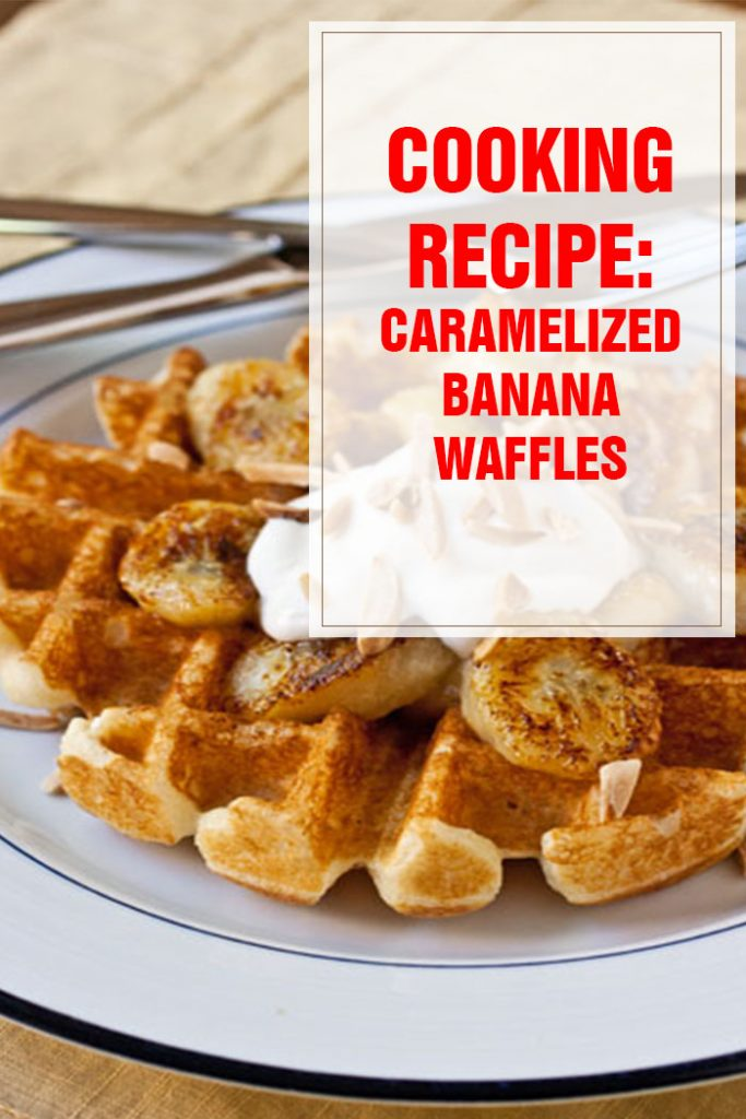 cooking recipe caramelized banana waffles