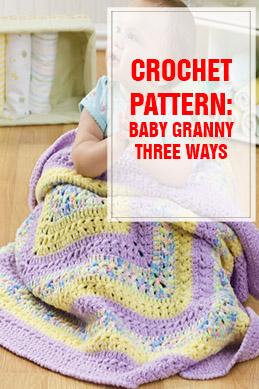 crochet pattern baby granny three ways thump