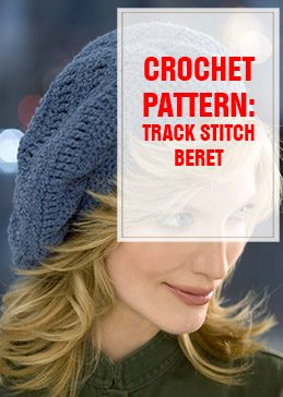crochet pattern track stitch beret thump