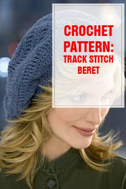 crochet pattern track stitch beret thump