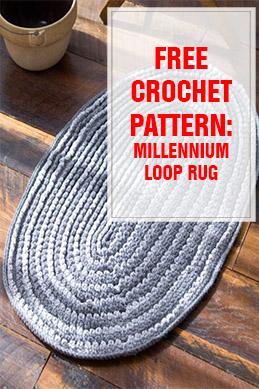 free crochet pattern millennium loop rug thumps