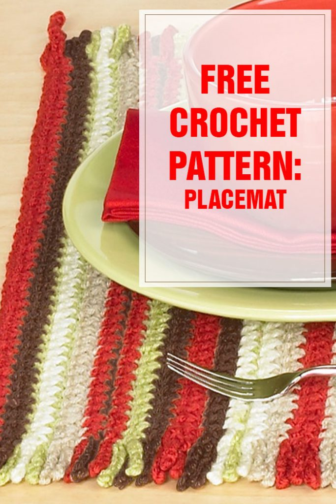 free crochet pattern placemat
