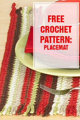free crochet pattern placemat thump