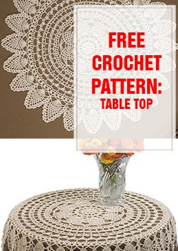 free crochet pattern table top thump