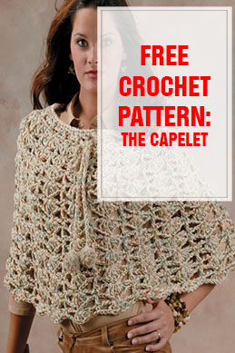 free crochet pattern the capelet THUMP