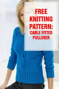 free knitting pattern Cable Fitted Pullover thump