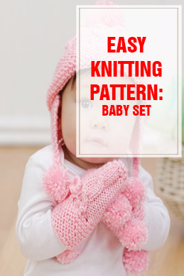 free knitting pattern baby set thump