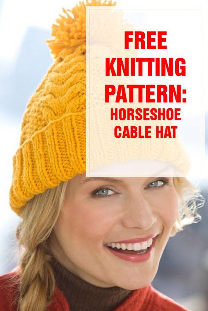 free knitting pattern horseshoe cable hat