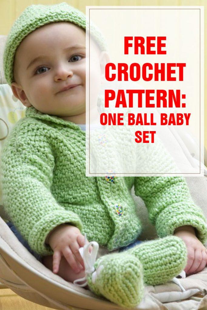 one ball baby set free crochet pattern