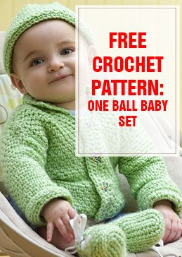 one ball baby set free crochet pattern THUMP