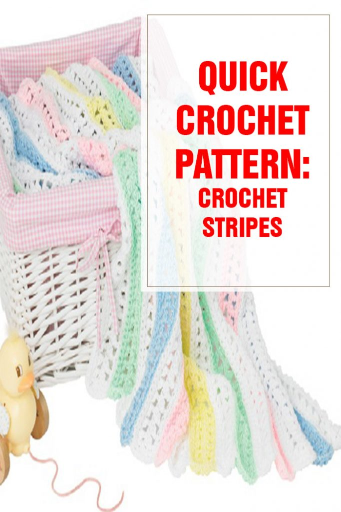 quick crochet stripes free pattern