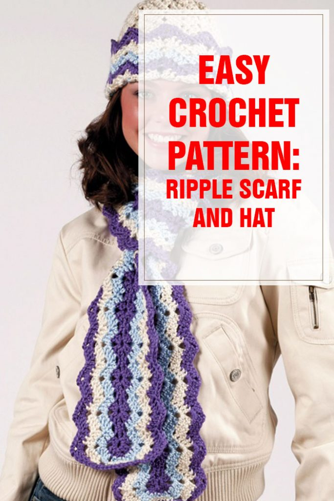 ripple hat and scarf free crochet pattern